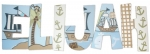 Ahoy Mate Nautical Painted Wall Letters