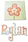 Canvas Paintings - Flower (letters sold separately)