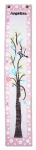 Painted Canvas Growth Chart - Birds in Tree
