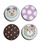 Nail Covers and Knobs - Teddy Bear