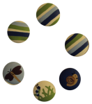 Nail Covers and Knobs - Bugs and Stripes