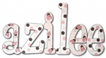Ladybugs and Lots O Dots Hand Painted Wall Letters