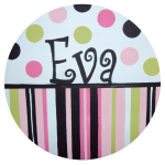 Hair Bow Holder - Dot and Stripe