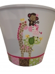 Painted Plastic Trashcan - Jungle Jill