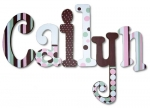 Modern Whimsy Hand Painted Wall Letters