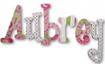 Aubrey Pink Paisley Hand Painted Wall Letters