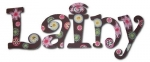 Carnival Bloom Hand Painted Wall Letters
