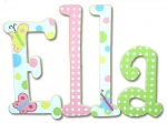 Ella's Delight Hand Painted Wall Letters