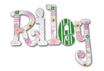 Daisy Delight Hand Painted Wall Letters