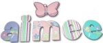 Aimee Butterflies Hand Painted Wall Letters