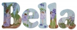Bella's Flower Fairies Painted Wall Letters