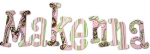 Pink and Brown Paisley Painted Wall Letters