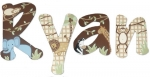 Baby Cocoa Jungle Painted Wall Letters