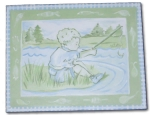 Canvas Paintings - Boy Fishing