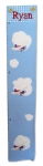 Painted Canvas Growth Chart - Airplanes