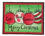 Canvas Paintings - Holiday Ornaments