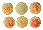 Nail Covers and Knobs - Butterfly Flower