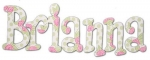 Briannas Rose Patch Hand Painted Wall Letters